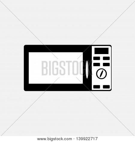 Microwave oven sign icon. Kitchen electric stove symbol.