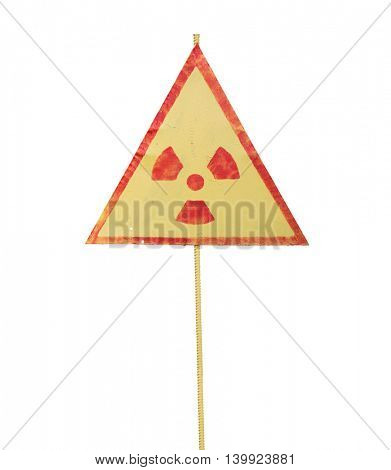 radiation warning sign isolated on white background