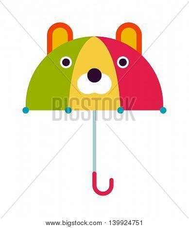 Kids umbrella vector illustration.