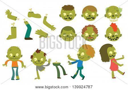 Cartoon zombie characters