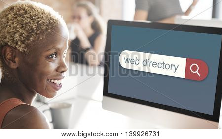 Web Directory Search Engine Browser Find Concept