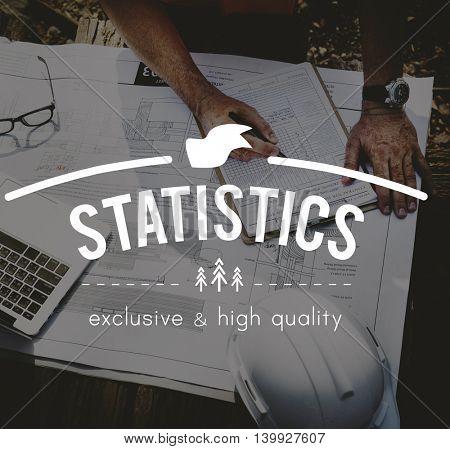 Statistics Record Planning Marketing Report Concept