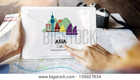Asia Country Travelling Exploration City Concept