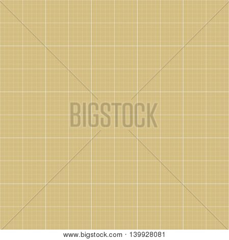 Geometric grid. Seamless fine abstract golden and white pattern