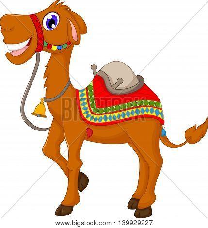 funny camel cartoon standing for you design