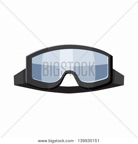 Military goggles icon in cartoon style isolated on white background. Equipment symbol