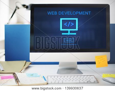 Web Development Javascript Process Software Concept