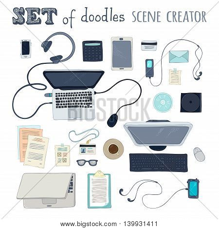 Set Of Office Scene Creator Objects.