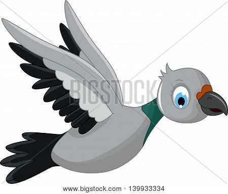 cute bird cartoon flying for you design