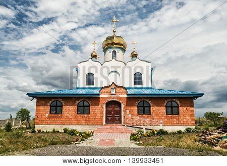 Orthodox church in Holic Slovak republic. Religious architecture. Place of worship. Beautiful place.