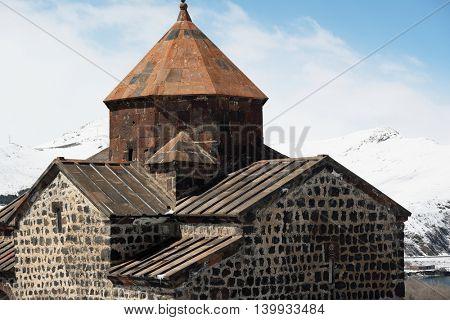 Ancient monastery Sevanavank on Lake Sevan, Armenia. Was founded in year 874.