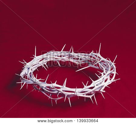 Crown of thorns on a red background