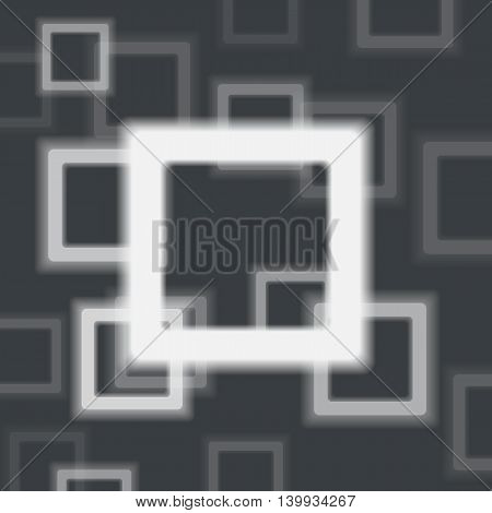 Abstract White Rectangle Shapes Banner. Vector Illustration. Background