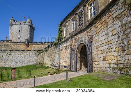 Entrance Gate And Tower Of The Hilltop Castle In Bad Bentheim