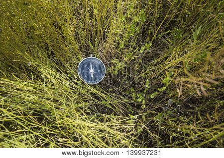Compass for land navigation, to determine the cardinal points