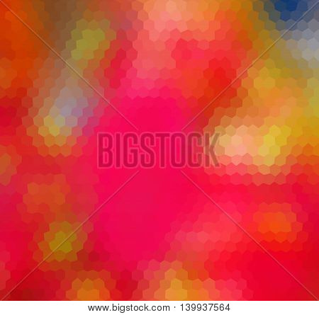Colorful Orange Heagonal Geometric Low Poly Gradient Graphic Background Vector Eps10