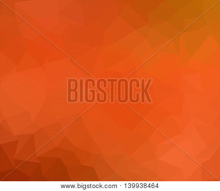 Colorful Orange Geometric Low Poly Gradient Graphic Background Vector Eps10