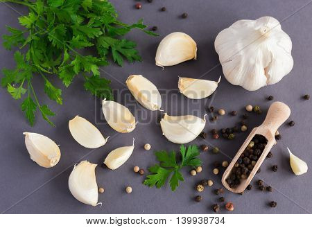 Parsley,  Garlic And Spices