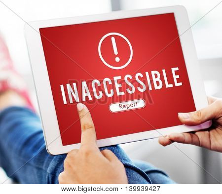 Inaccessible Network Problem Technology Software Concept