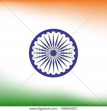 Abstract India flag background. Poster or brochure template. Vector illustration.