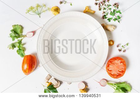 empty plate with food near