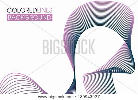Colorful abstract background . Multicolored interlacing lines stretching into the distance . Suitable for savers and for branding