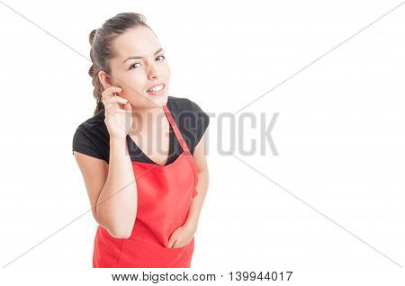 Curious Woman Employee Listening Whisper