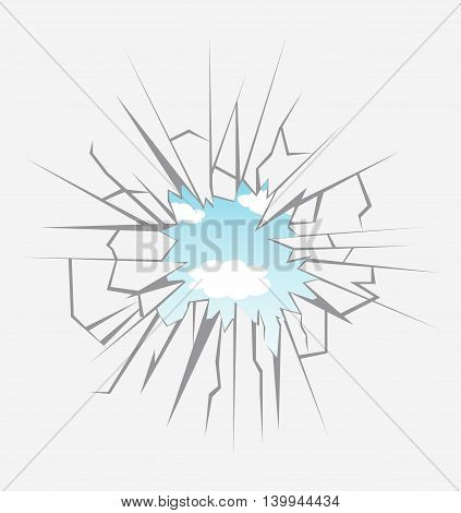Crushed glass hand drawn, vector illustration art