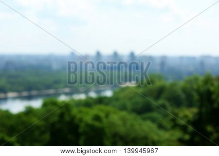 Beautiful panoramic view of city, blurred background