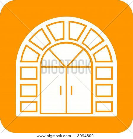 Door, house, entrance icon vector image.Can also be used for home . Suitable for mobile apps, web apps and print media.