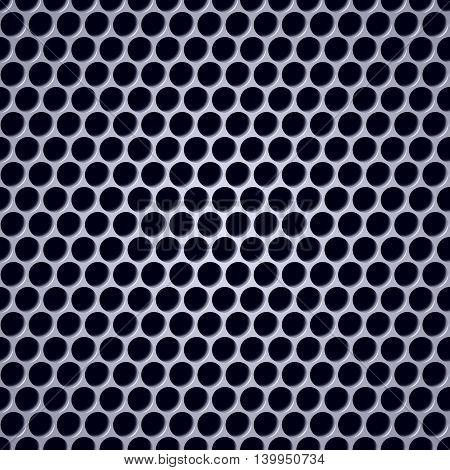 Seamless wallpaper. Perforation closeup with metal shade