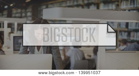 Business Woman Technology Frame Graphic Concept
