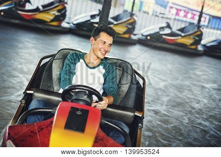 Amusement Park Funfair Playful Bumper Car Concept