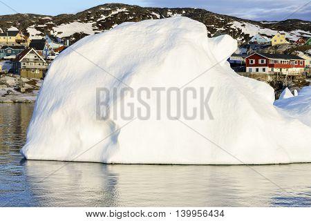 Icebergs on arctic ocean in Ilulissat icefjord, Greenland
