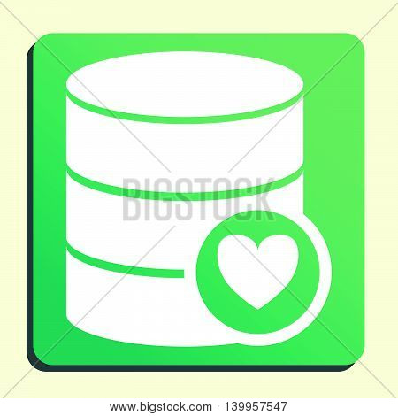 Database Heart Icon In Vector Format. Premium Quality Database Heart Symbol. Web Graphic Database He