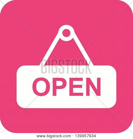 Open, tag, price icon vector image. Can also be used for shopping. Suitable for use on web apps, mobile apps and print media.