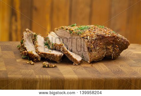 Sliced Tenderloin Sprinkled With Spices