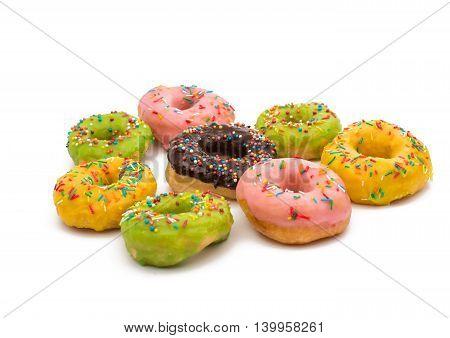 donut glaze sugar on a white background