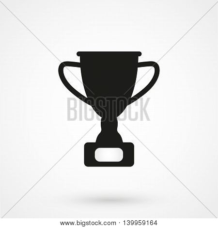 Trophy Icon On A White Background. Simple Vector Illustration