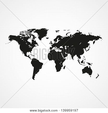 Similar World Map On A White Background. Simple Vector Illustration