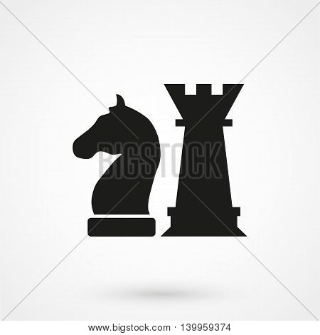 Chess Icon On A White Background. Simple Vector Illustration