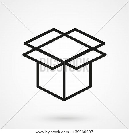 Box Icon On A White Background. Simple Vector Illustration