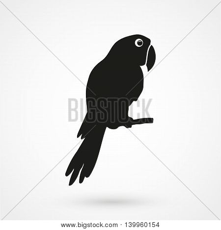 Parrot Icon On A White Background. Simple Vector Illustration