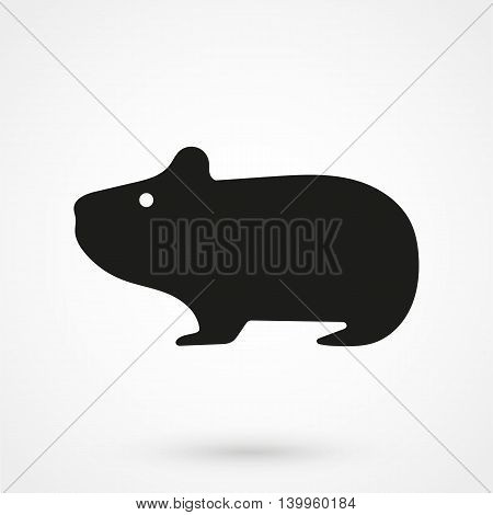 Hamster Icon On A White Background. Simple Vector Illustration