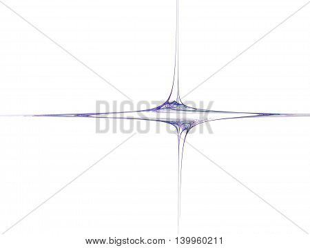 3D rendering of smooth curves on white background