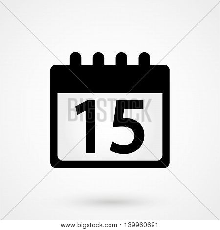 Calendar Icon On A White Background. Simple Vector Illustration