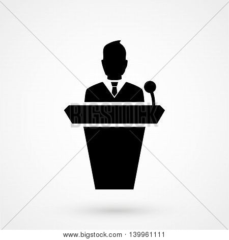 Speaker Icon On A White Background. Simple Vector Illustration