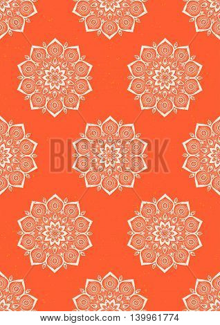 Ornament color card with mandala. Geometric circle element vector. Art subject, Adults Coloring book. Kaleidoscope, medallion, yoga, india, arabic. Illustration for print, print notebook clothing