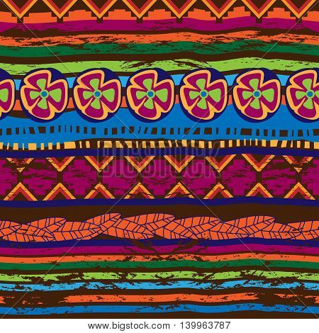 Seamless Pattern With Mexican Motifs.