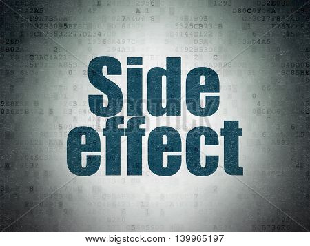 Health concept: Painted blue word Side Effect on Digital Data Paper background